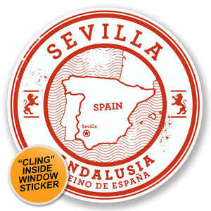 2 x Sevilla Seville Spain WINDOW CLING STICKER Car Van Campervan Glass #6580