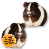 2 x Guinea Pig WINDOW CLING STICKER Car Van Campervan Glass #6617