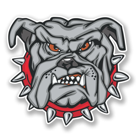 2 x Bulldog Dog Vinyl Sticker #6637