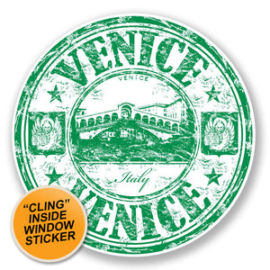 2 x Venice Italy WINDOW CLING STICKER Car Van Campervan Glass #6643