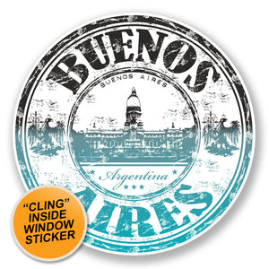 2 x Buenos Aires Argentina WINDOW CLING STICKER Car Van Campervan Glass #6656