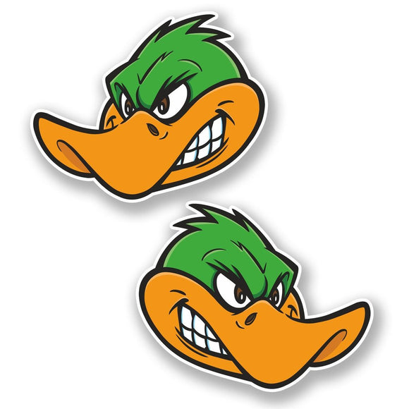 2 x Angry Duck Vinyl Sticker #6661