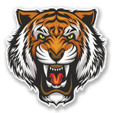 2 x Angry Tiger Vinyl Sticker #6679