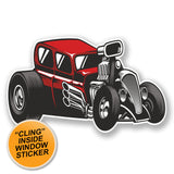 2 x Hot Rod Classic Car WINDOW CLING STICKER Car Van Campervan Glass #6685