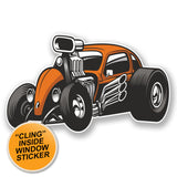 2 x Hot Rod Classic Car WINDOW CLING STICKER Car Van Campervan Glass #6686