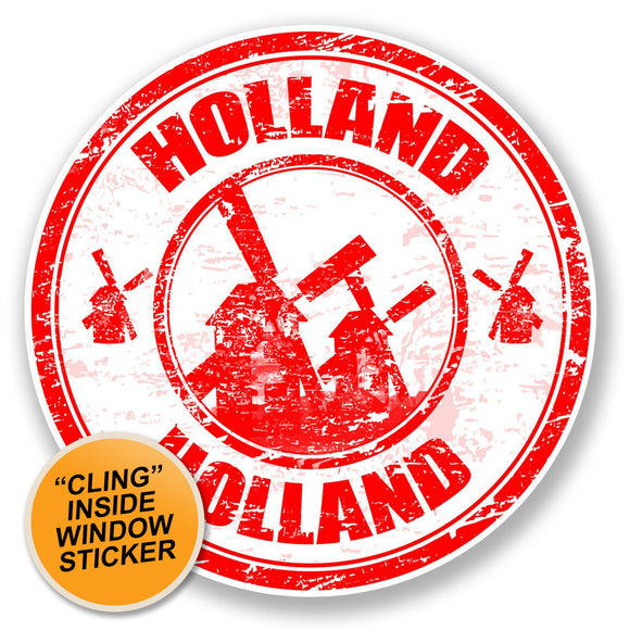2 x Holland WINDOW CLING STICKER Car Van Campervan Glass #6690