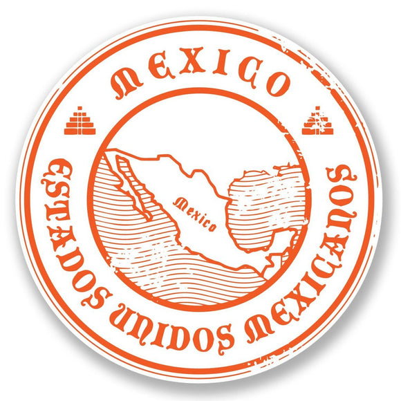 2 x Mexico Vinyl Sticker #6694