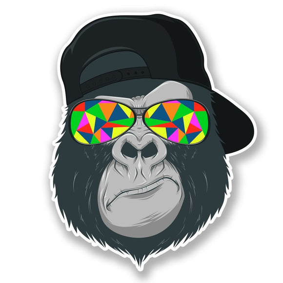 2 x Cool Gorilla Vinyl Sticker #6696