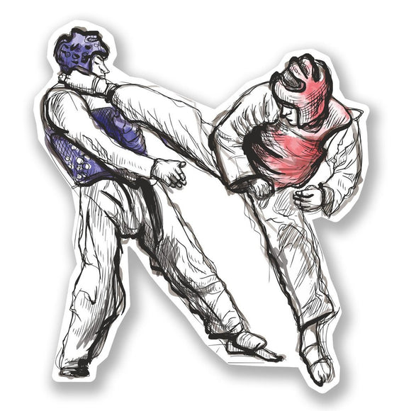 2 x Martial Arts Vinyl Sticker #6699