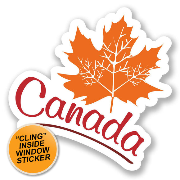 2 x Canada WINDOW CLING STICKER Car Van Campervan Glass #6710