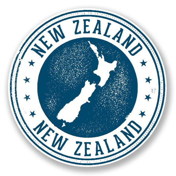 2 x New Zealand Vinyl Sticker #6711