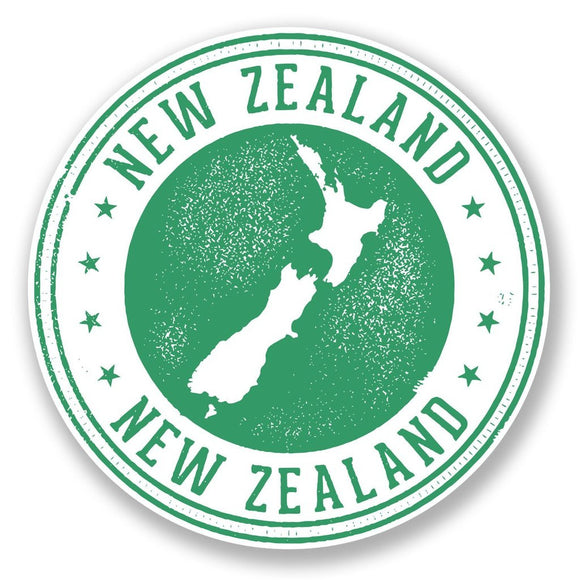 2 x New Zealand Vinyl Sticker #6712