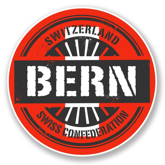 2 x Bern Switzerland Vinyl Sticker #6725