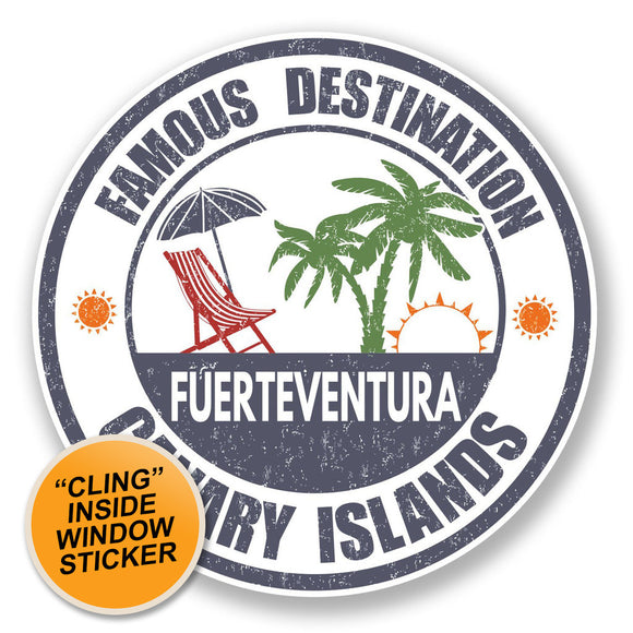 2 x Fuerteventura WINDOW CLING STICKER Car Van Campervan Glass #6729