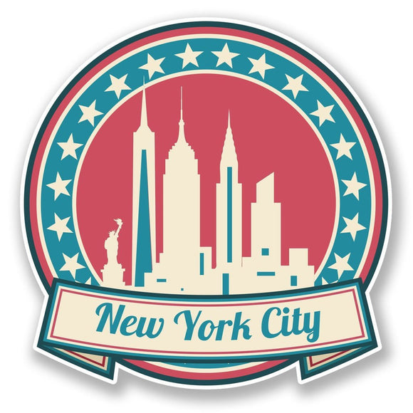 2 x New York America USA Vinyl Sticker #6736