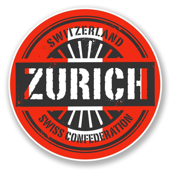 2 x Zurich Switzerland Vinyl Sticker #6737