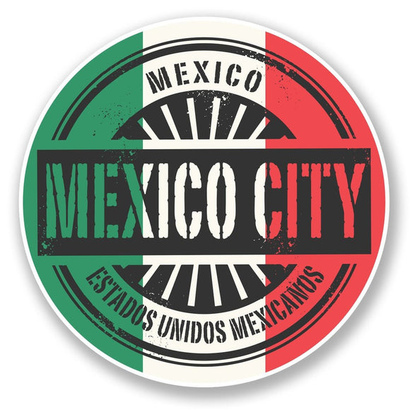 2 x Mexico City Vinyl Sticker #6751