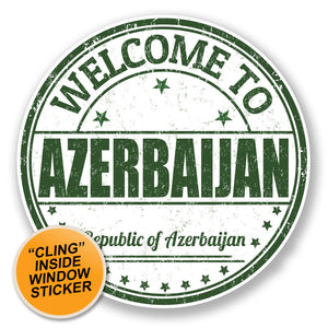 2 x Azerbaijan WINDOW CLING STICKER Car Van Campervan Glass #6754