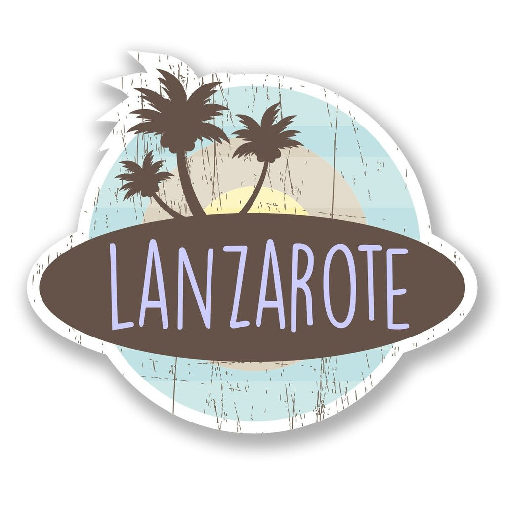 2 x Lanzarote Island Spain Vinyl Sticker #6761