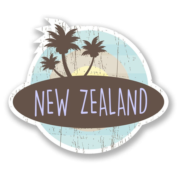 2 x New Zealand Vinyl Sticker #6771