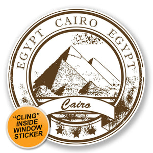 2 x Egypt WINDOW CLING STICKER Car Van Campervan Glass #6775