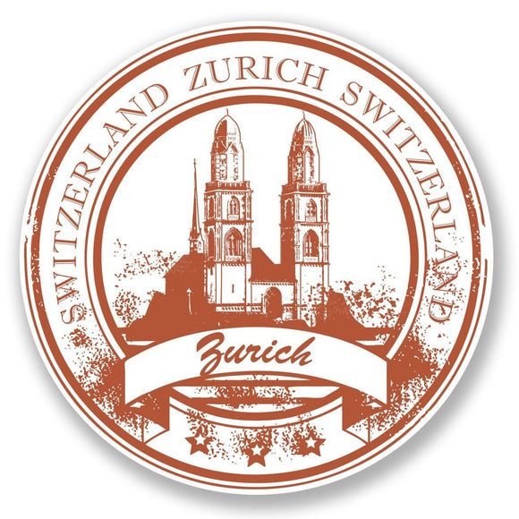 2 x Zurich Switzerland Vinyl Sticker #6777