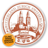 2 x Zurich Switzerland WINDOW CLING STICKER Car Van Campervan Glass #6777