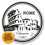 2 x Italy Rome Colosseum WINDOW CLING STICKER Car Van Campervan Glass #6778