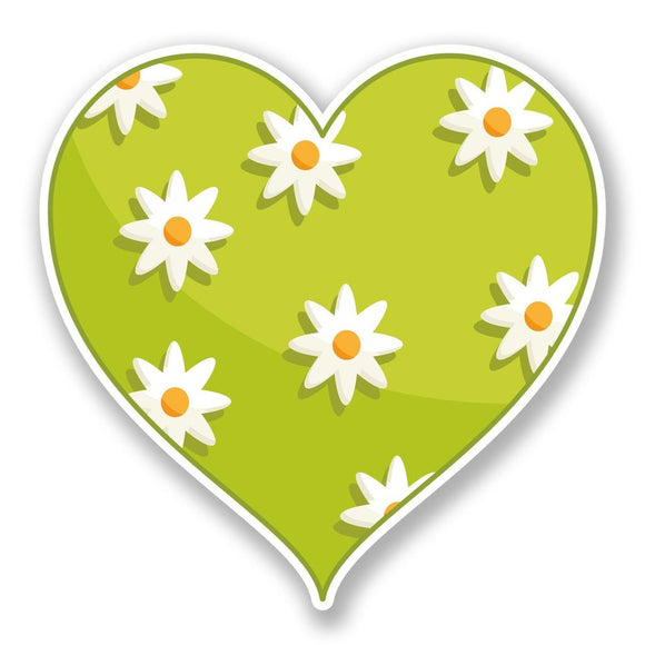 2 x Flower Heart Vinyl Sticker #6781
