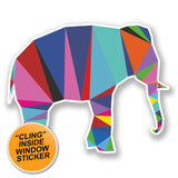 2 x Cool Elephant WINDOW CLING STICKER Car Van Campervan Glass #6783