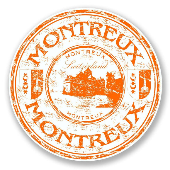 2 x Montreux Switzerland Vinyl Sticker #6790