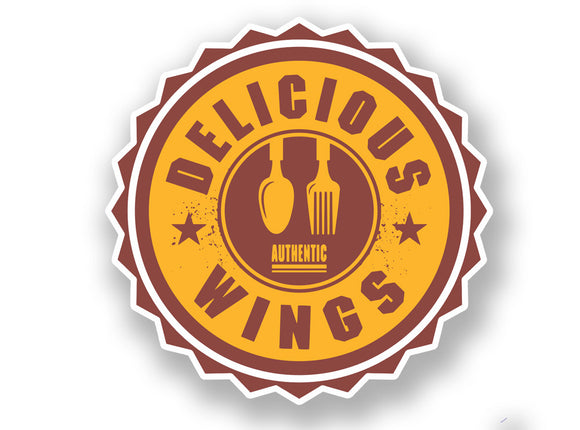 2 x Authentic Delicious Wings Vinyl Sticker #7002
