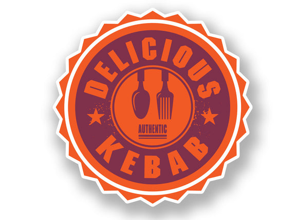 2 x Authentic Delicious Kabab Vinyl Sticker #7004