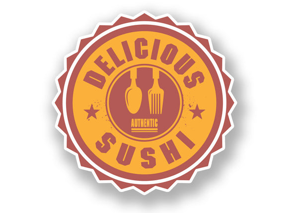 2 x Authentic Delicious Sushi Vinyl Sticker #7006