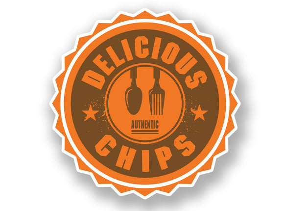 2 x Authentic Delicious Chips Vinyl Sticker #7008