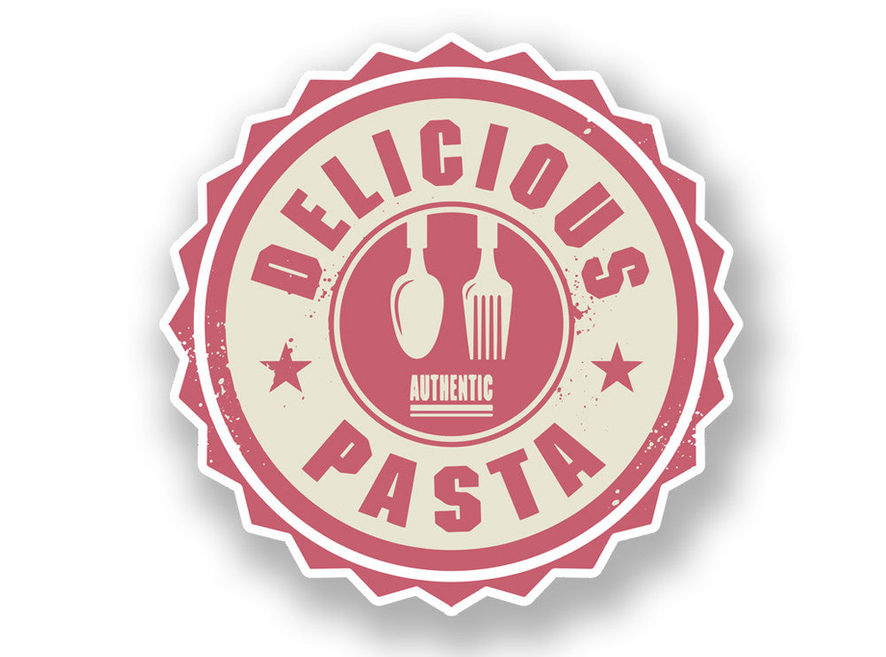 2 x Authentic Delicious Pasta Vinyl Sticker #7009