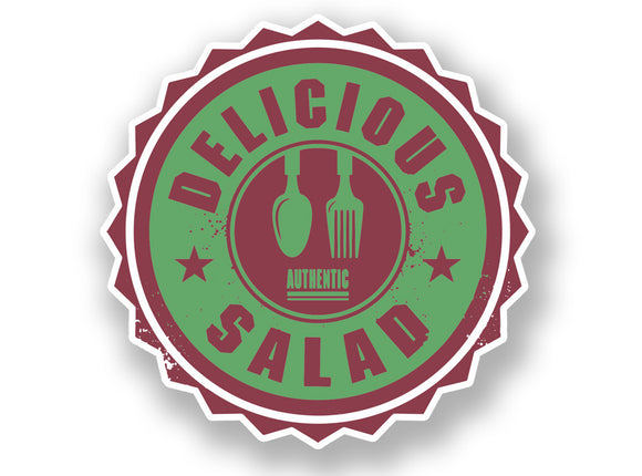 2 x Authentic Delicious Salad Vinyl Sticker #7011