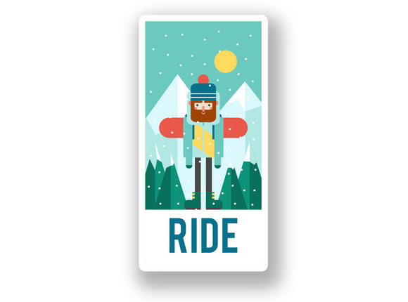 2 x Ride Snowboarding Vinyl Sticker #7025