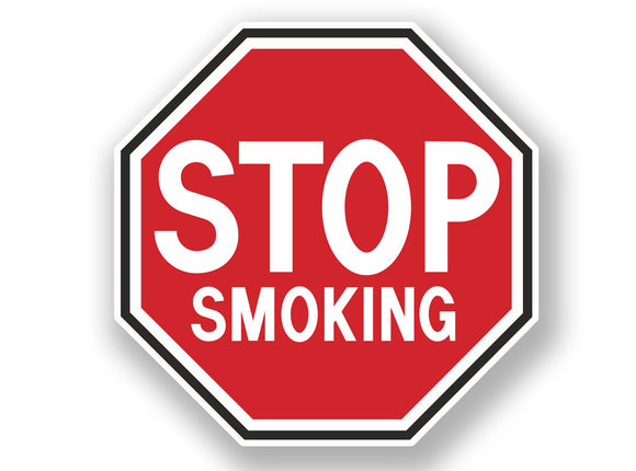 2 x Stop Smoking Warning Sign Vinyl Sticker #7063