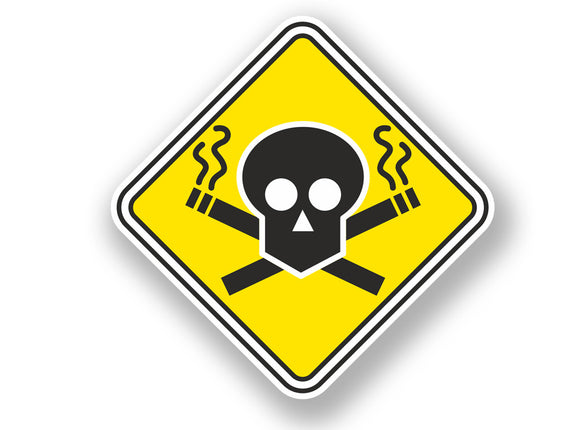 2 x Stop Smoking Warning Sign Vinyl Sticker #7064