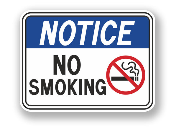 2 x Stop Smoking Warning Sign Vinyl Sticker #7065