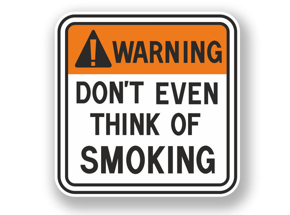 2 x Smoking Warning Sign Vinyl Sticker #7066