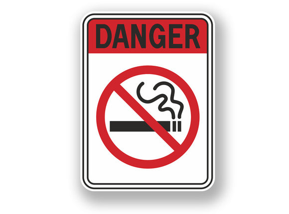 2 x Stop Smoking Warning Sign Vinyl Sticker #7068