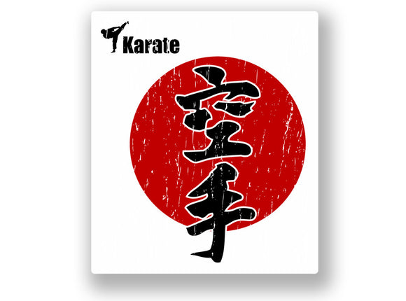 2 x Karate Vinyl Sticker Japan Ninja #7069