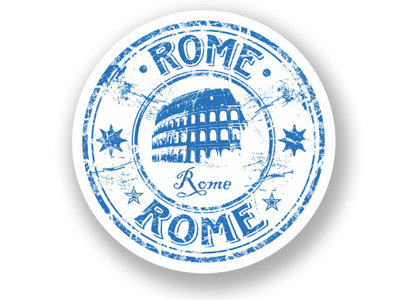 2 x Italy Rome Vinyl Sticker Travel Luggage Italian #7071