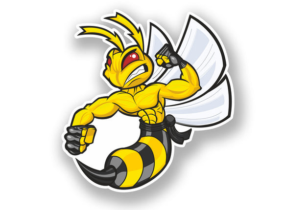 2 x Angry Hornet Vinyl Sticker Animals Wasp #7080