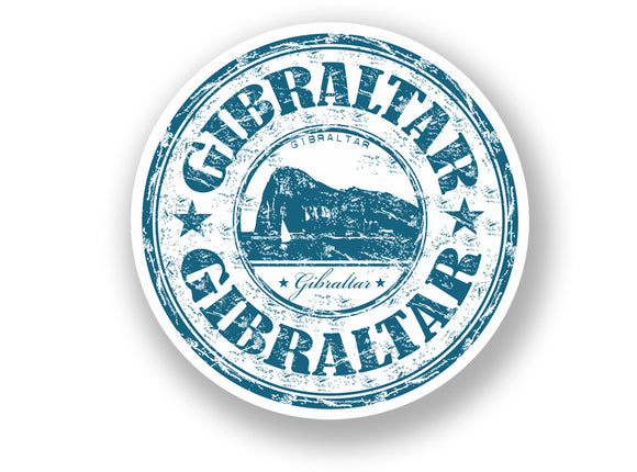 2 x Gibraltar Vinyl Sticker Travel Luggage #7088