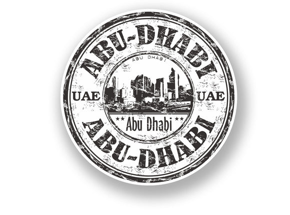 2 x Abu Dhabi United Arab Emirates Vinyl Sticker Travel Luggage #7091