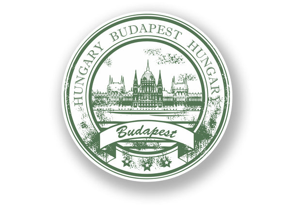 2 x Budapest Hungary Vinyl Sticker Travel Luggage #7093