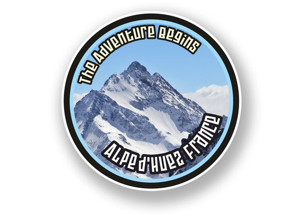 2 x Alpe d'Huez France Vinyl Sticker Travel Mountain Ski Snowboard #7106